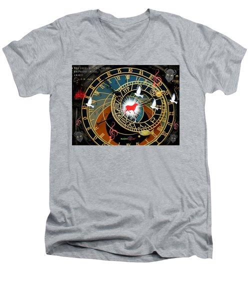 Time Stops Men's V-Neck T-Shirt
