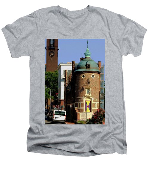 Time To Face The Harvard Lampoon Men's V-Neck T-Shirt