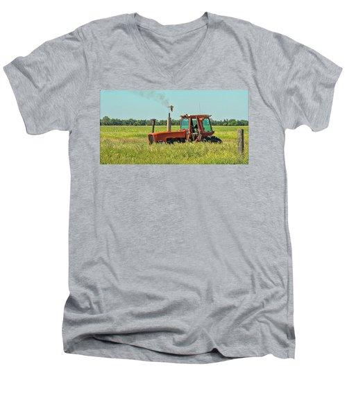 Time To Mow Men's V-Neck T-Shirt