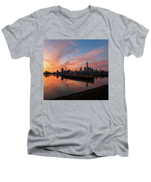 Time To Reflect  Men's V-Neck T-Shirt by Anthony Fields