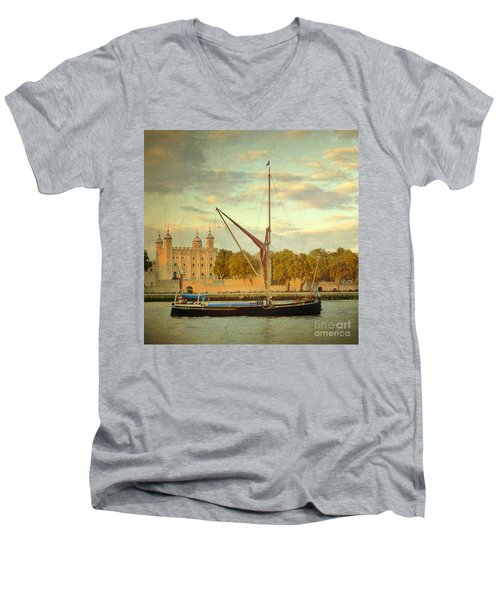 Men's V-Neck T-Shirt featuring the photograph Time Travel by LemonArt Photography