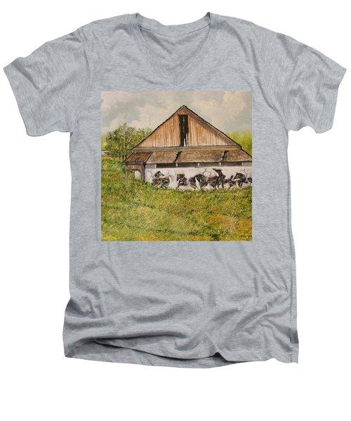 Time Was Men's V-Neck T-Shirt