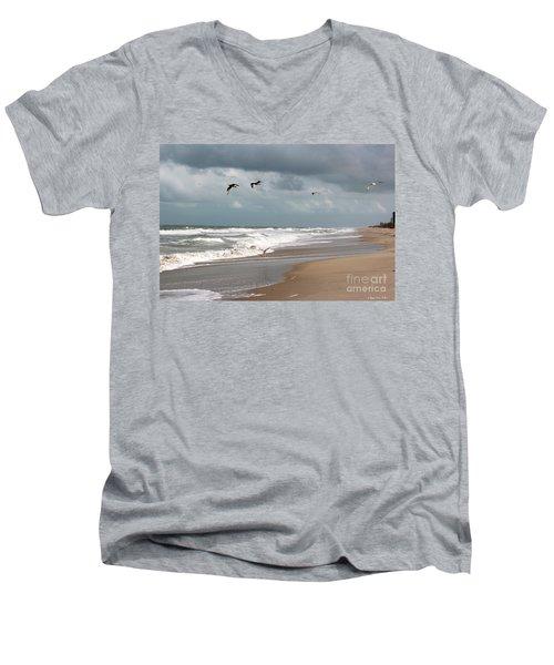 Timeless Men's V-Neck T-Shirt by Megan Dirsa-DuBois