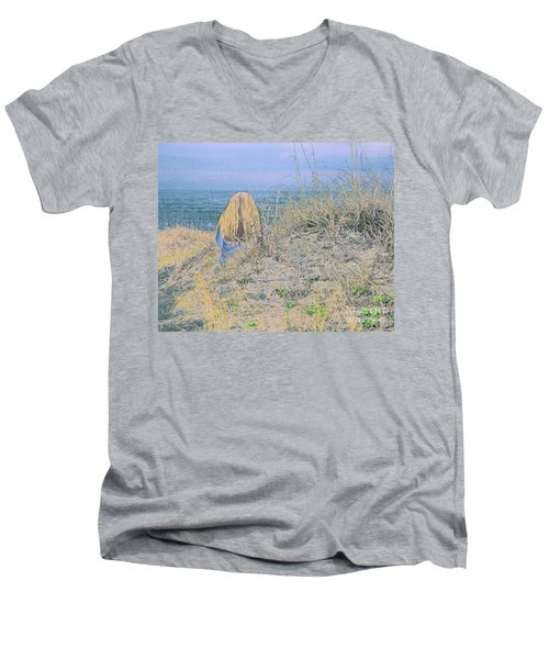 Timeless Sands Men's V-Neck T-Shirt
