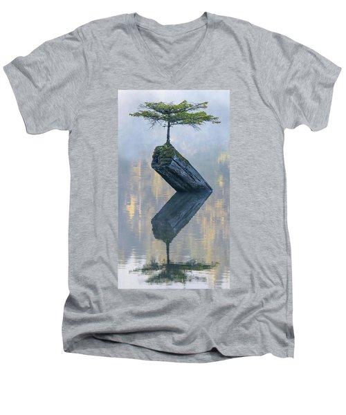 Timeless Tranquility Men's V-Neck T-Shirt