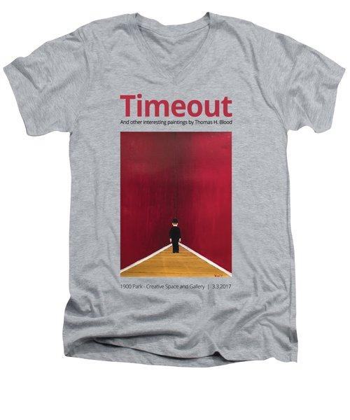 Timeout T-shirt Men's V-Neck T-Shirt by Thomas Blood