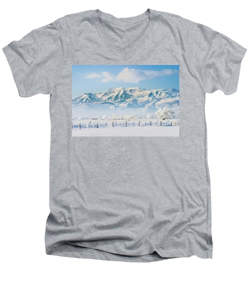 Timp In Winter Men's V-Neck T-Shirt