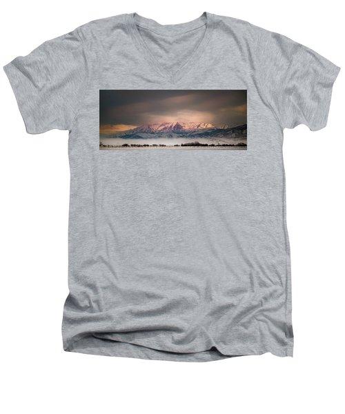 Timpanogos Rising Men's V-Neck T-Shirt