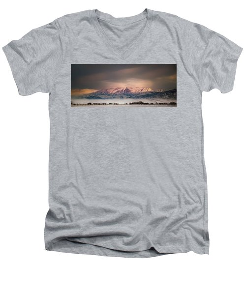 Timpanogos Rising Men's V-Neck T-Shirt