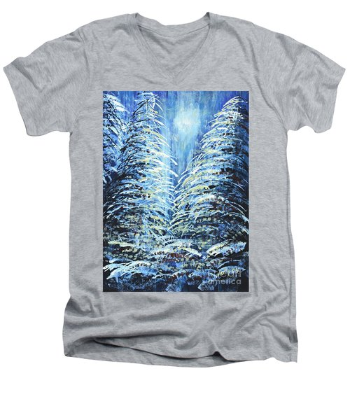 Tim's Winter Forest Men's V-Neck T-Shirt