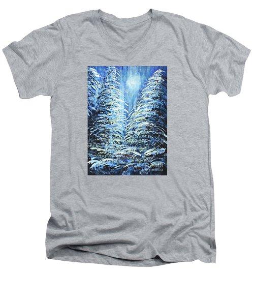 Tim's Winter Forest Men's V-Neck T-Shirt