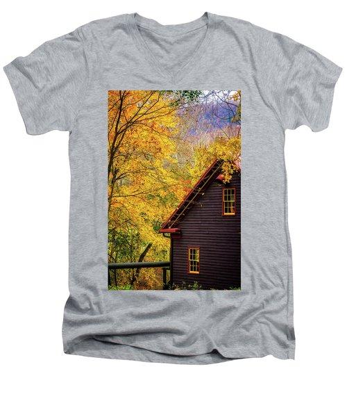 Tingler's Mill In Fall Men's V-Neck T-Shirt