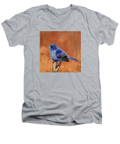 Tiny Blue Men's V-Neck T-Shirt