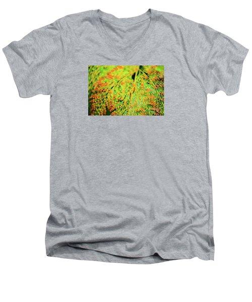 Tiny Flowers Blooming  Men's V-Neck T-Shirt