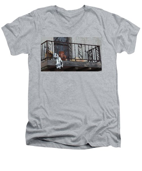 Tiny Southwest Balcony Men's V-Neck T-Shirt