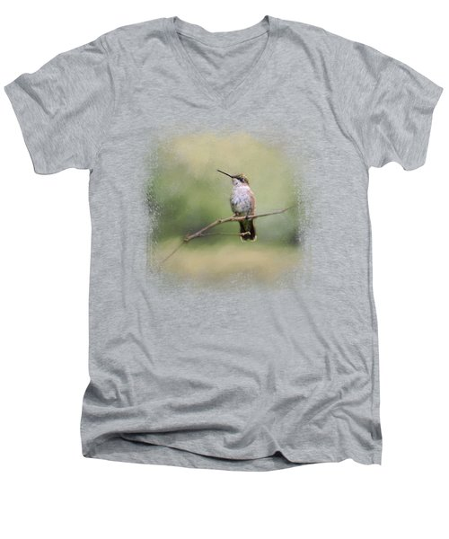 Tiny Visitor Men's V-Neck T-Shirt