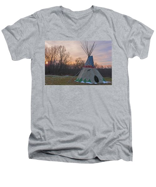Tipi Sunset Men's V-Neck T-Shirt
