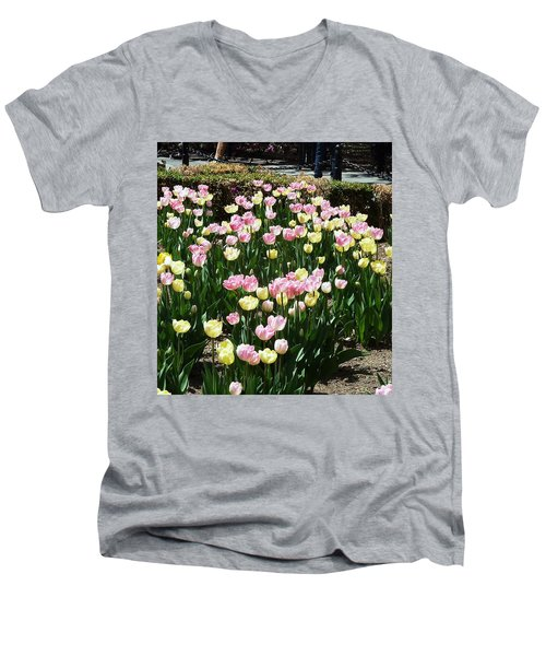 Tiptoe Through The Tulips Men's V-Neck T-Shirt