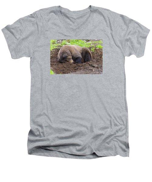 Tired Men's V-Neck T-Shirt by Harold Piskiel