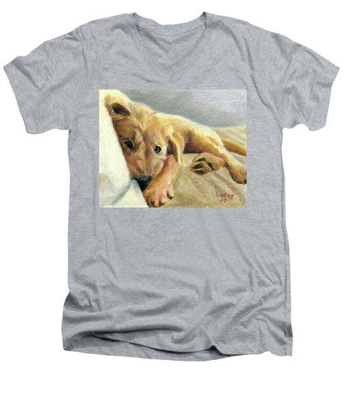 Tired Puppy Men's V-Neck T-Shirt