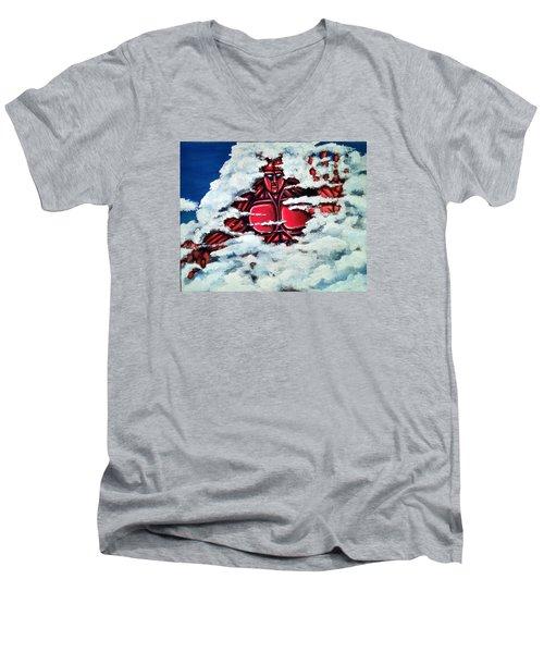 Titan Men's V-Neck T-Shirt by Chris Benice