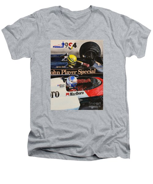 Titans' Battle Men's V-Neck T-Shirt