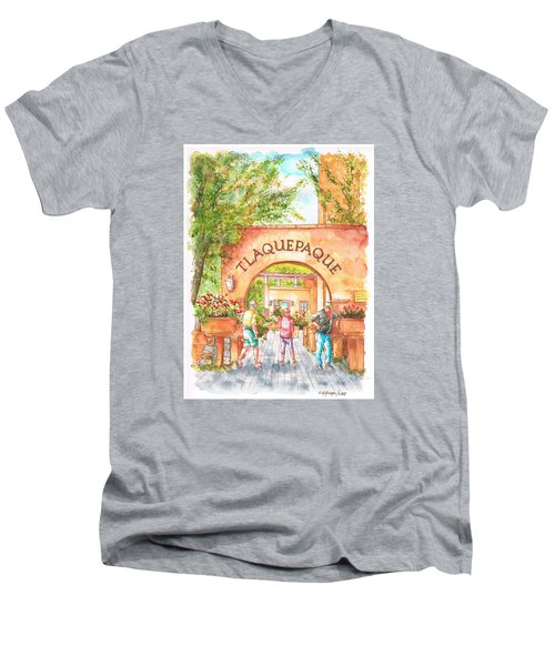 Tlaquepaque Gallery In Sedona, Arizona Men's V-Neck T-Shirt