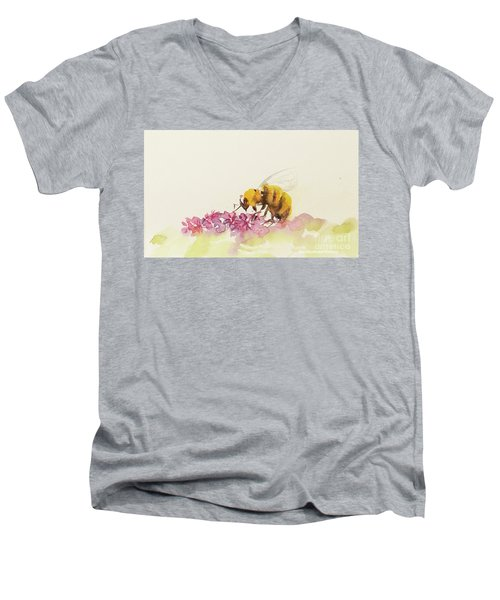 To Bee Or Not To Be Miniature Men's V-Neck T-Shirt