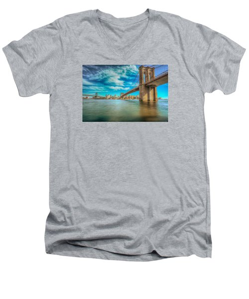 To Brooklyn And Back Men's V-Neck T-Shirt