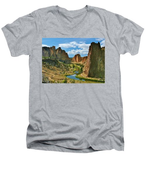To Dream Men's V-Neck T-Shirt by Sheila Ping