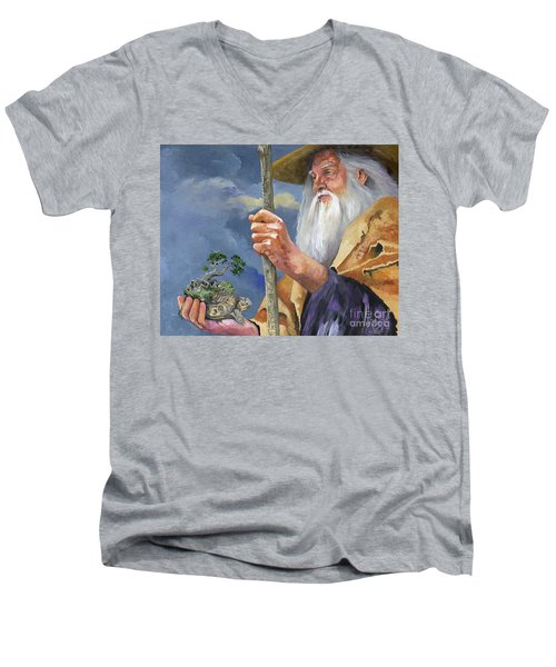 To Hold The World In The Palm Of Your Hand Men's V-Neck T-Shirt