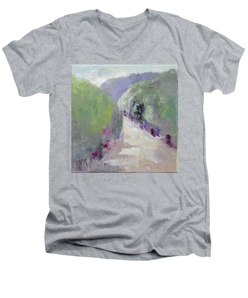 To Mountain Men's V-Neck T-Shirt by Becky Kim
