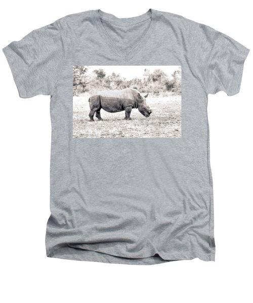 To Survive Men's V-Neck T-Shirt by Juergen Klust