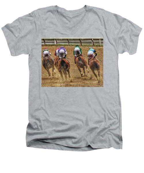 To The Finish Men's V-Neck T-Shirt