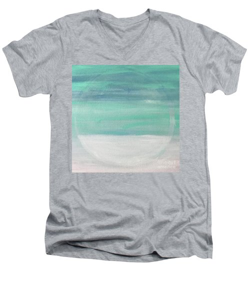 To The Moon Men's V-Neck T-Shirt by Kim Nelson