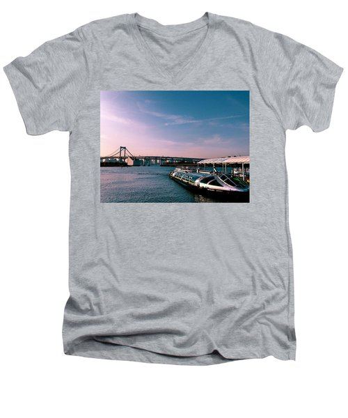 To The Space From Sea Men's V-Neck T-Shirt by Momoko Sano