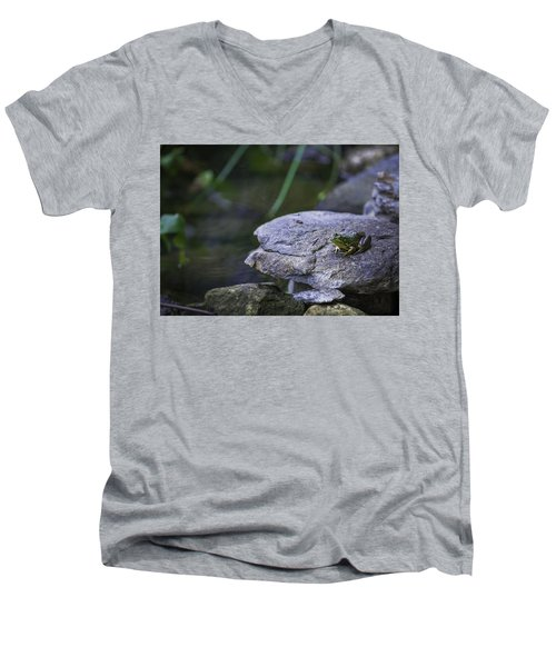Toading It Up Men's V-Neck T-Shirt by Jason Moynihan