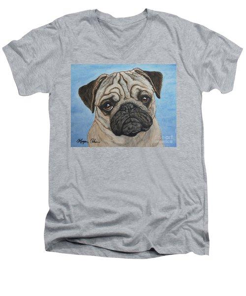 Toby The Pug Men's V-Neck T-Shirt