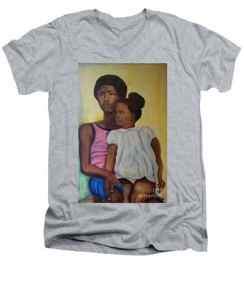 Together - Pride And Peace Men's V-Neck T-Shirt