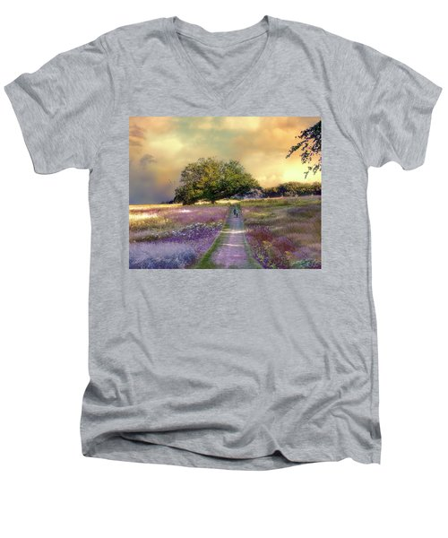 Together We Can Weather The Storms Men's V-Neck T-Shirt by John Rivera