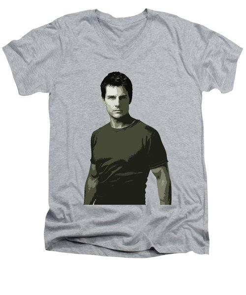 Tom Cruise Cutout Art Men's V-Neck T-Shirt