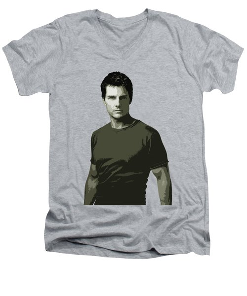 Tom Cruise Cutout Art Men's V-Neck T-Shirt