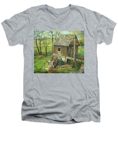 Tom Lott's Mill In Georgia Men's V-Neck T-Shirt