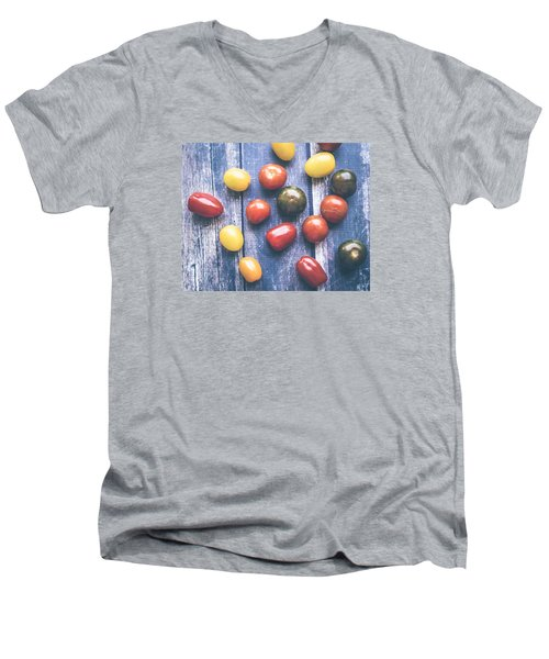 Tomato Medley  Men's V-Neck T-Shirt by Nicole English