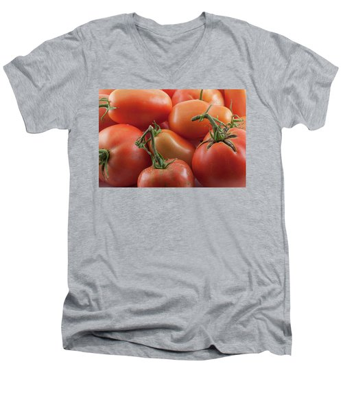 Men's V-Neck T-Shirt featuring the photograph Tomato Stems by James BO Insogna