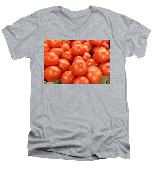 Tomatoes 247 Men's V-Neck T-Shirt by Michael Fryd