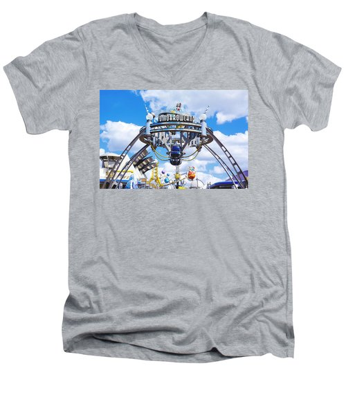 Men's V-Neck T-Shirt featuring the photograph Tomorrowland by Greg Fortier