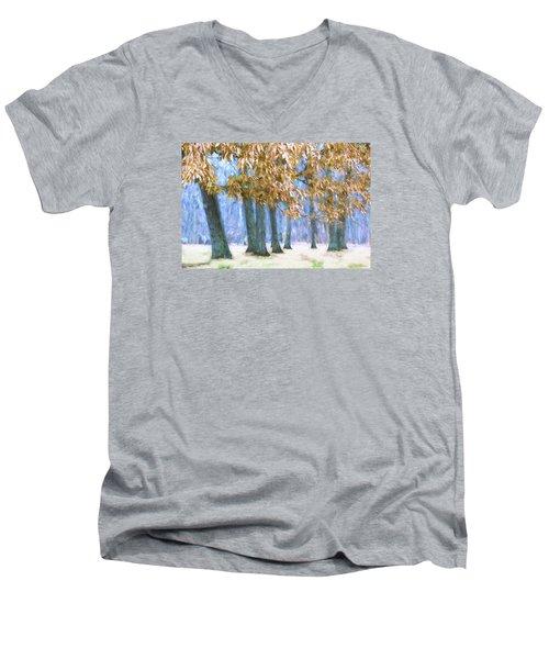 Tones Of Winter Men's V-Neck T-Shirt