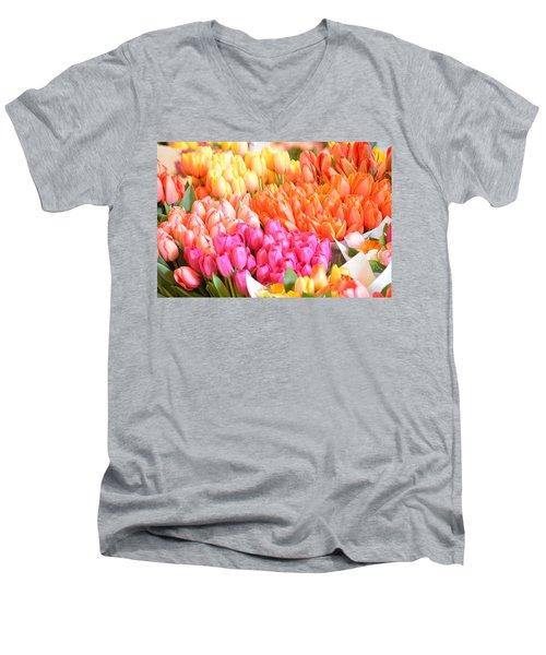 Tons Of Tulips Men's V-Neck T-Shirt