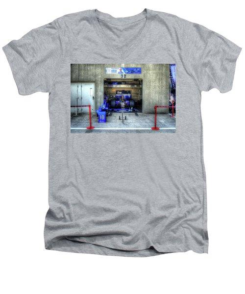 Tony Kanaan Indy Men's V-Neck T-Shirt by Josh Williams